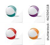 Four Icons Of Glossy Toy Ball...