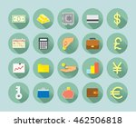 twenty flat style icons... | Shutterstock .eps vector #462506818