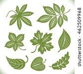 green leaves shapes vector set... | Shutterstock .eps vector #462509968