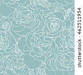 Rose Blue Pattern. Floral...