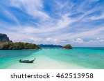 thai long tail boat on...   Shutterstock . vector #462513958
