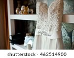 wedding dress embroidered with... | Shutterstock . vector #462514900