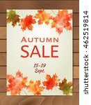 autumn sale flyer design with... | Shutterstock .eps vector #462519814
