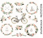 Vintage Flower Wreath Bicycles...