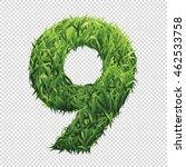 number nine of green grass. a... | Shutterstock .eps vector #462533758