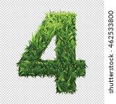 number four of green grass. a... | Shutterstock .eps vector #462533800