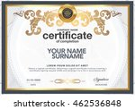 certificate to be elegant and... | Shutterstock .eps vector #462536848