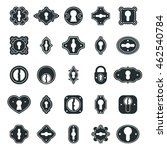 keyhole icons vector set.... | Shutterstock .eps vector #462540784