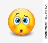cute confused emoticon   emoji  ... | Shutterstock .eps vector #462541564