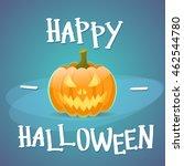 happy halloween banner pumpkin... | Shutterstock .eps vector #462544780