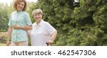 elderly with walking stick and... | Shutterstock . vector #462547306