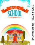 back to school cartoon poster.... | Shutterstock .eps vector #462554218