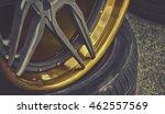 closeup detail of gold aluminum ... | Shutterstock . vector #462557569