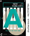 nyc   new york district   stock ... | Shutterstock .eps vector #462558784