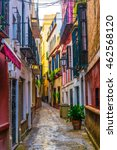 a narrow street situated in the ... | Shutterstock . vector #462568120