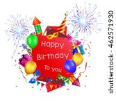 happy birthday holiday... | Shutterstock .eps vector #462571930