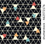 seamless vector geometric... | Shutterstock .eps vector #462572176