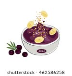 tropical acai  illustration of... | Shutterstock .eps vector #462586258