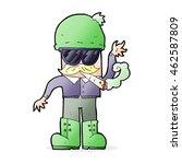 cartoon man smoking pot | Shutterstock . vector #462587809