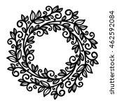 vector  mandala  contour... | Shutterstock .eps vector #462592084