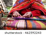 Stock photo close up of weaving in peru 462592243