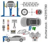 car service decorative elements ... | Shutterstock .eps vector #462595780