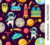 space seamless background... | Shutterstock .eps vector #462596080