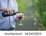man in vineyard | Shutterstock . vector #462602824
