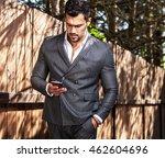 elegant handsome man in... | Shutterstock . vector #462604696