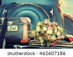 Wedding Bouquet On Vintage...