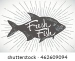 fish label  silhouette of a... | Shutterstock .eps vector #462609094