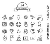 vector startup icons set. | Shutterstock .eps vector #462609124