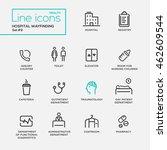 hospital wayfindings   modern... | Shutterstock .eps vector #462609544