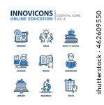 online education   modern... | Shutterstock .eps vector #462609550