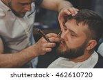 serious bearded man getting... | Shutterstock . vector #462610720