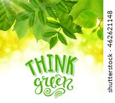 think green poster | Shutterstock .eps vector #462621148