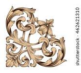 vintage baroque ornament. retro ... | Shutterstock .eps vector #462621310