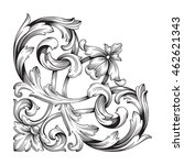 vintage baroque ornament. retro ... | Shutterstock .eps vector #462621343