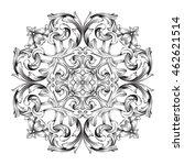 vintage baroque ornament. retro ... | Shutterstock .eps vector #462621514