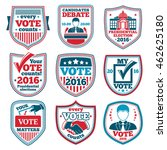 vector set of vote labels and... | Shutterstock .eps vector #462625180