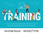 training concept illustration... | Shutterstock .eps vector #462627196