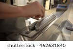 new york subway riders hands... | Shutterstock . vector #462631840