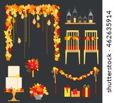 autumn wedding. decorative... | Shutterstock .eps vector #462635914