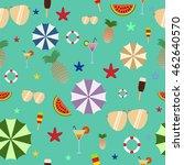 summer seamless pattern on... | Shutterstock .eps vector #462640570