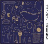 set of bathroom accessories....   Shutterstock .eps vector #462642118