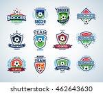 soccer logo templates set.... | Shutterstock .eps vector #462643630
