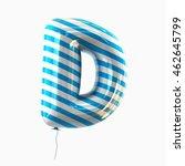 Letter D. Colorful Balloon Fon...