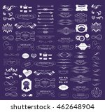 set of calligraphic elements... | Shutterstock .eps vector #462648904