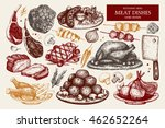 vector collection of hand drawn ... | Shutterstock .eps vector #462652264