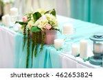 wedding table decorations in... | Shutterstock . vector #462653824